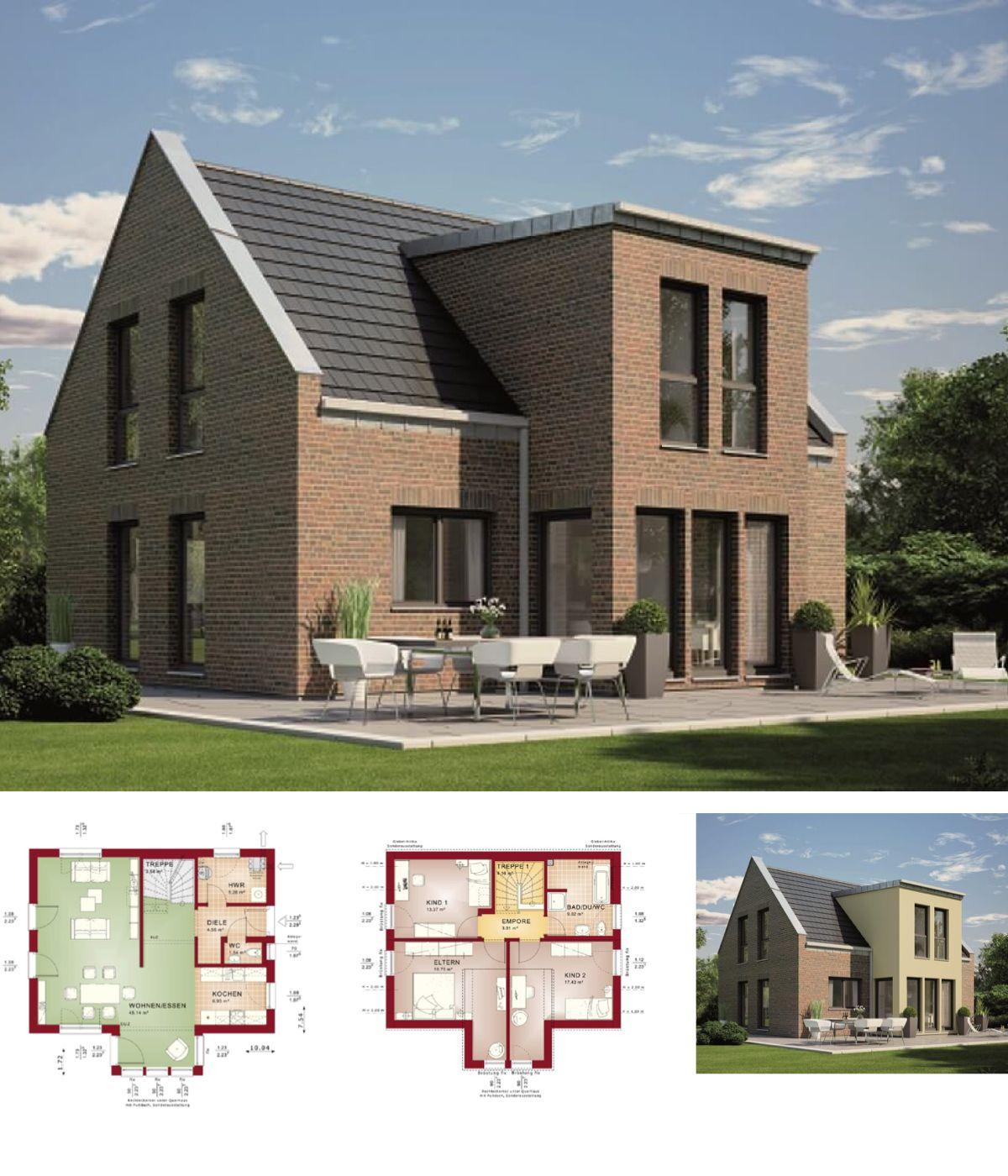 Modernes Einfamilienhaus Mit Klinker Fassade Haus Evolution 122 V9