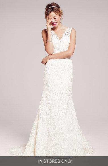Dakota' Lace Trumpet Wedding Dress (In Stores Only) | Romantico