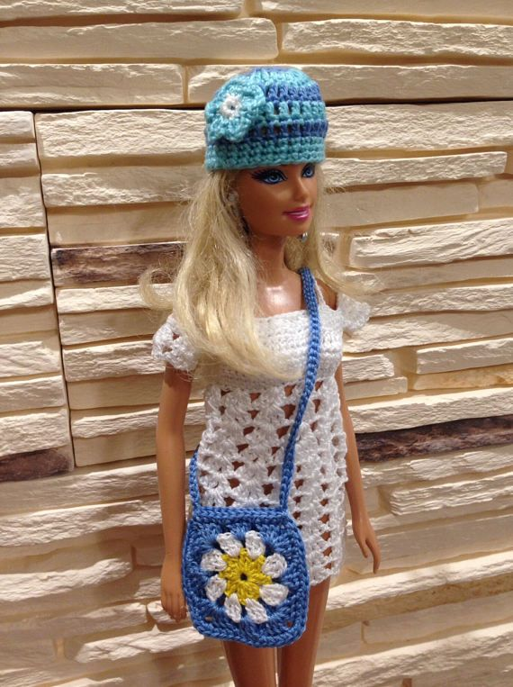 Barbie Boho Style Bag Crochet Barbie Purse Hippie Style Bag For