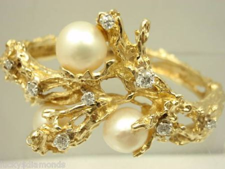 Buccellati The Gold Bangle Bracelet with Diamonds and Pearls