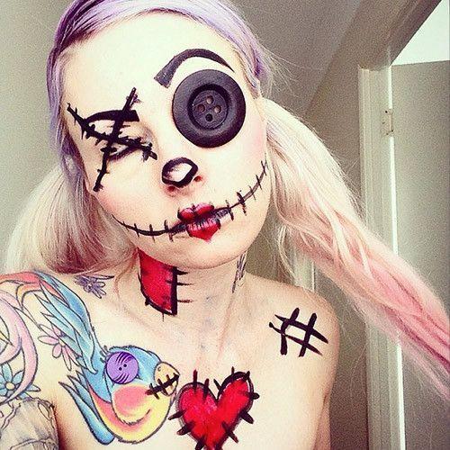 14 Ideas de maquillaje para lucir como una aterradora muñeca