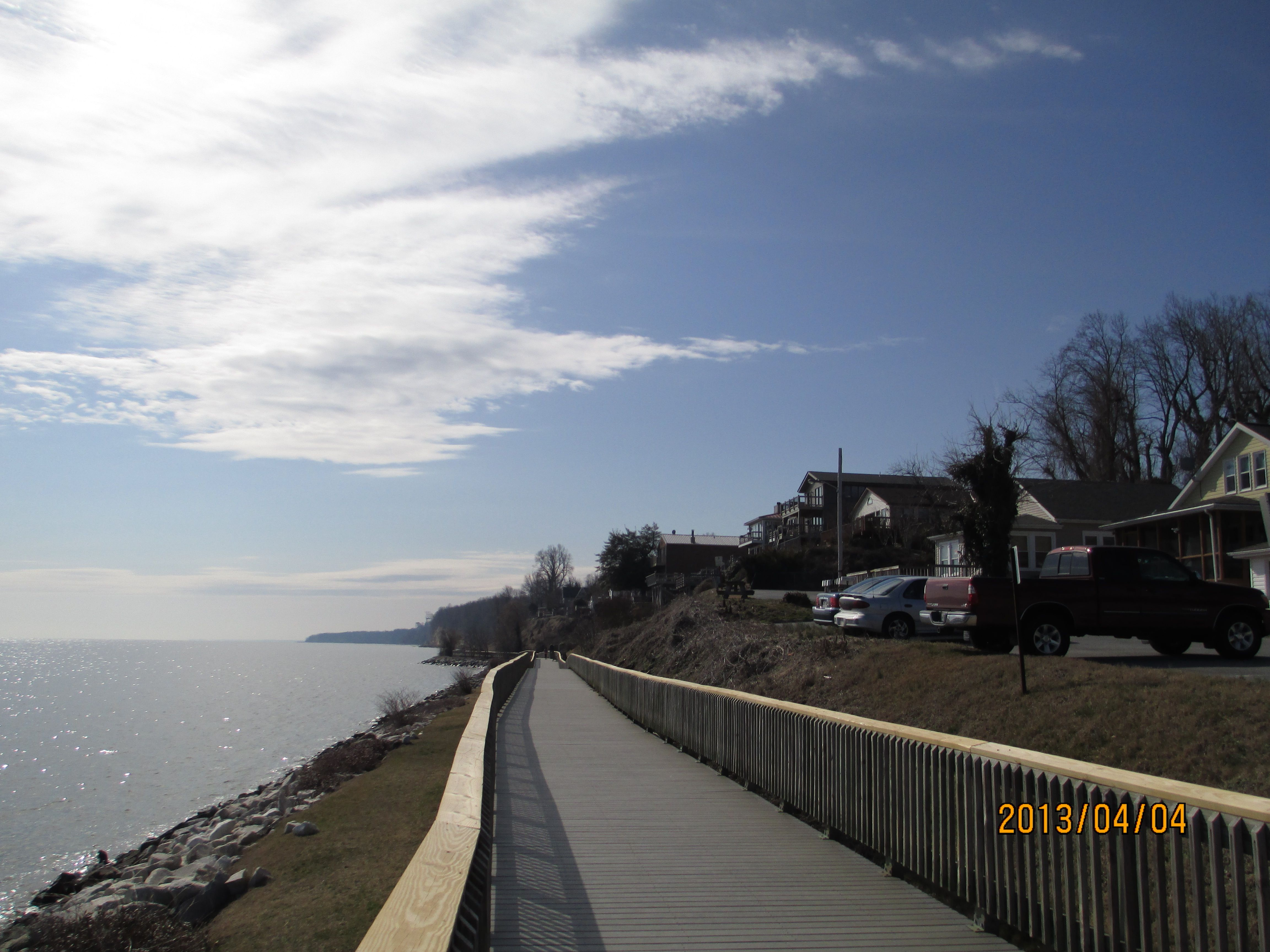 Chesapeake Beach Boardwalk Further Down Is Brownies And Some Of The Calvert Cliffs