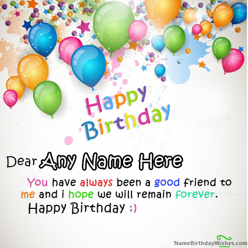 Write name on Beautiful Colors Happy Birthday Wishes With