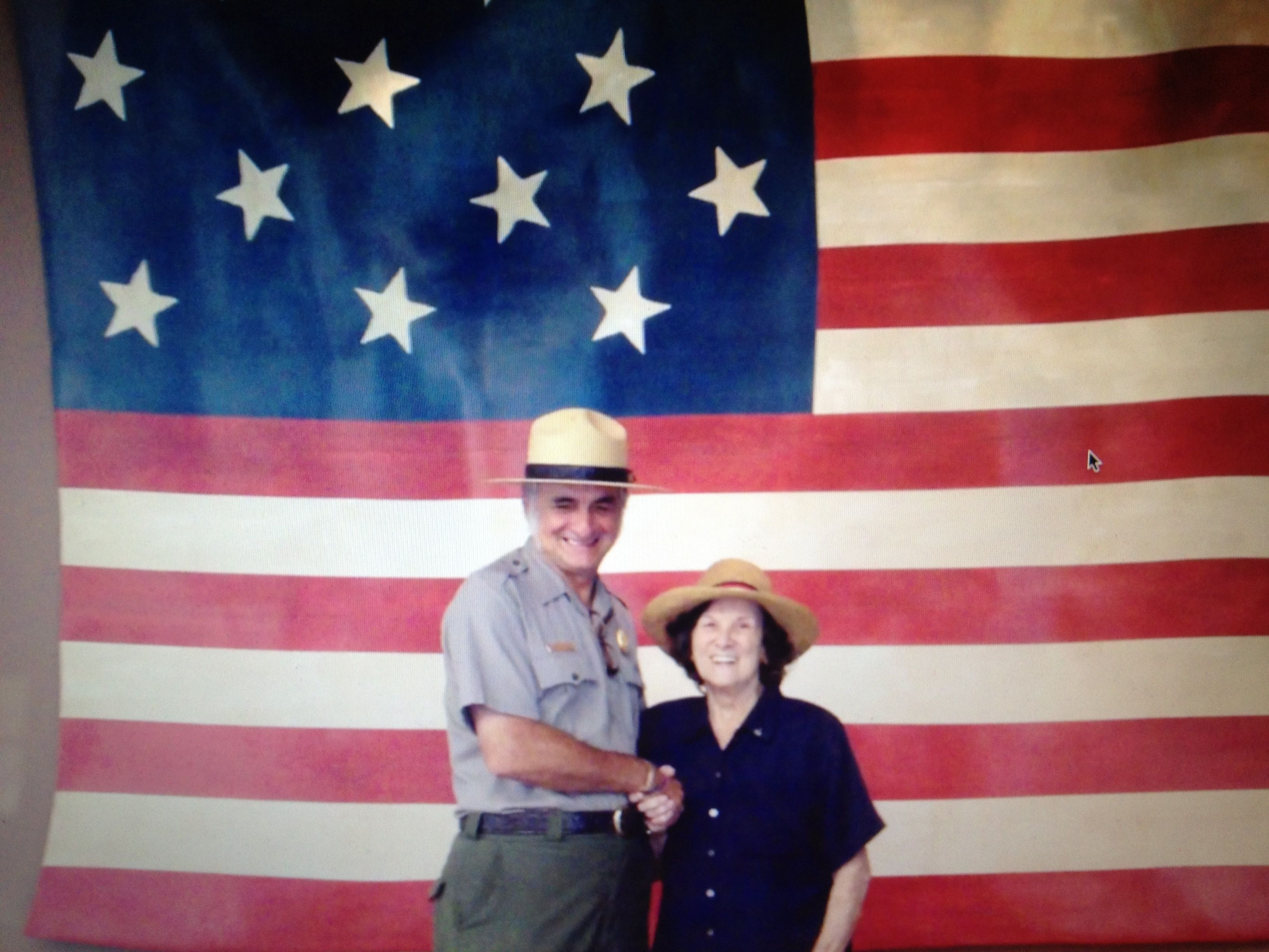 Mom With Ranger Scott Fort Mchenry She Was Born Inside The Fort Yes Inside Fort Mchenry Baltimore 7 12 12 Mchenry Americana Country Flags