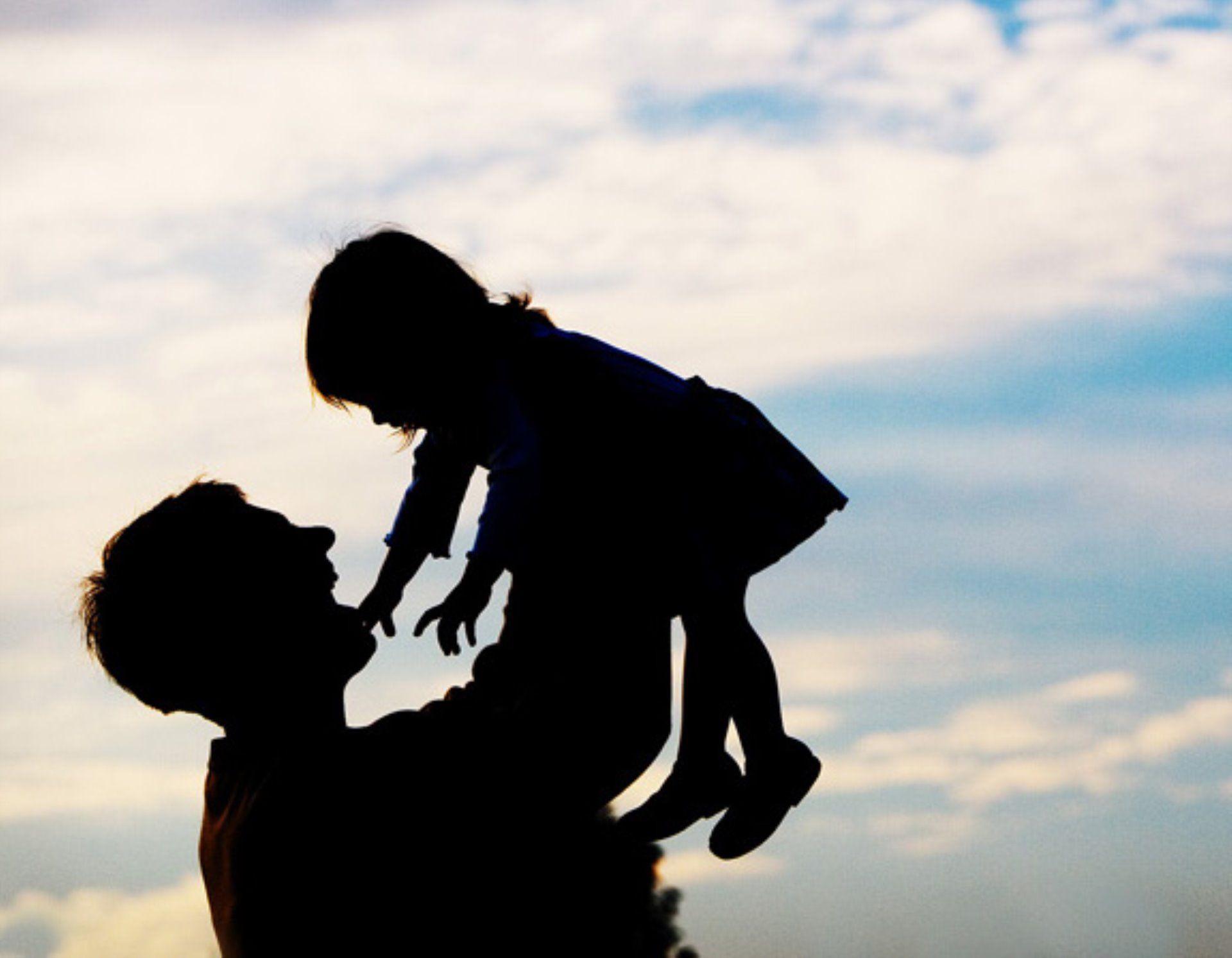 Картинка папа с дочкой спиной, газом картинки
