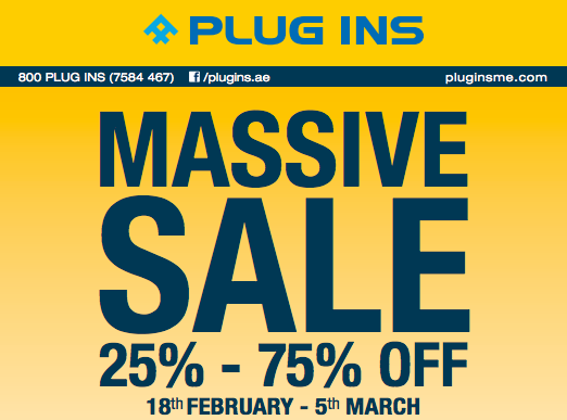 Plug Ins Massive Sale Offer 18th Feb 2016 To 5th March 2016