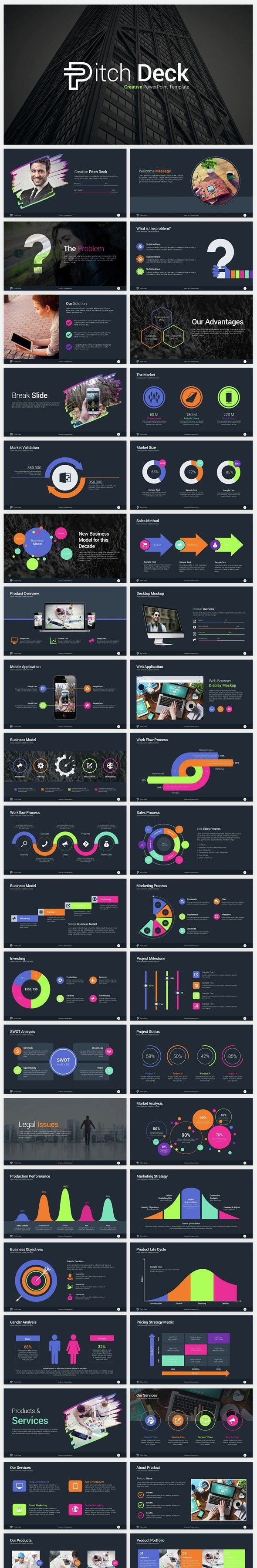 Creative Pitch Deck PowerPoint Template | Pitch, Business planning ...