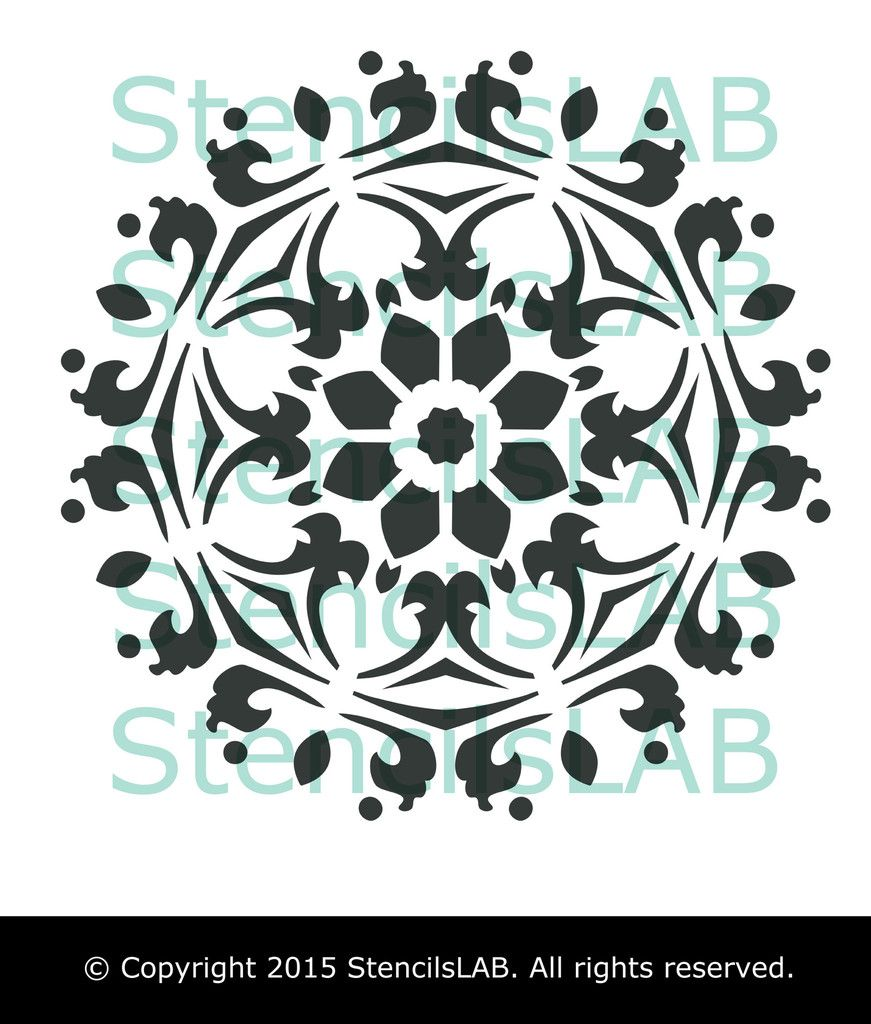 Decorative symmetrical mandala style stencil furniture stencil decorative symmetrical mandala style stencil furniture stencil dec stencilslab wall stencils amipublicfo Images