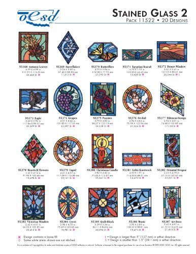 Oesd Embroidery Machine Designs Stained Glass 2 11522 By Oesd Http