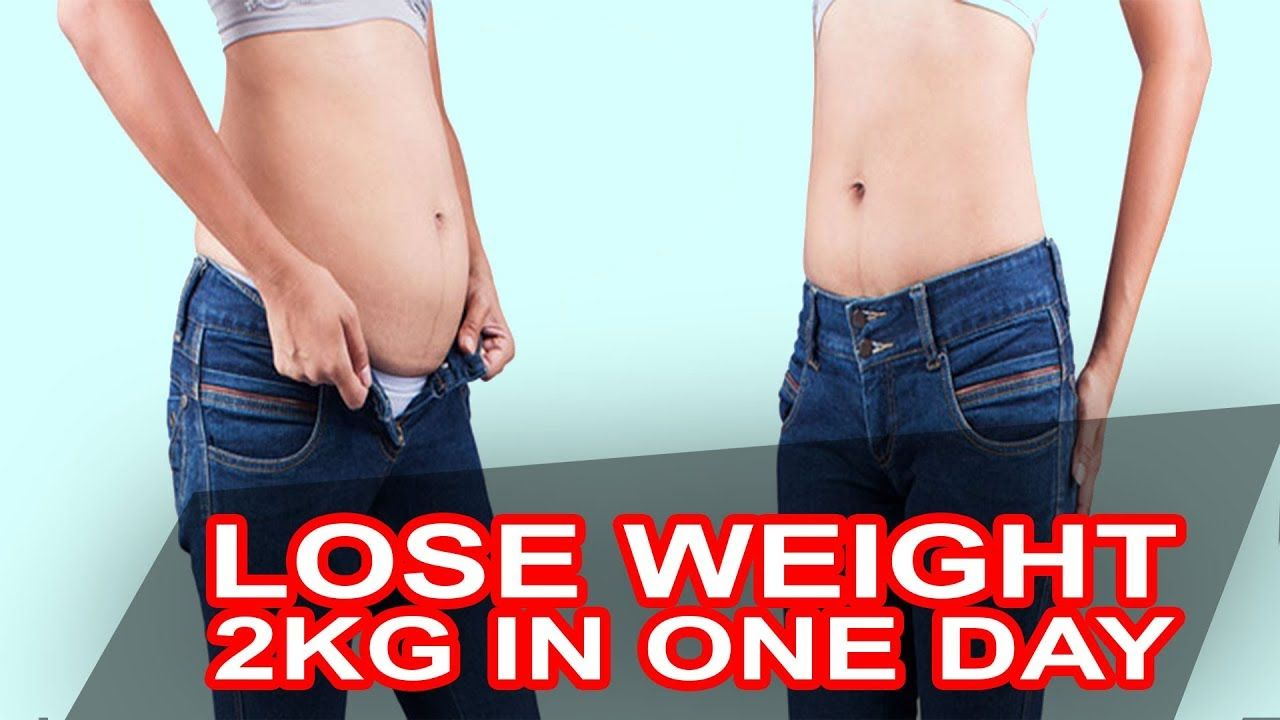 How much weight can you lose in one day
