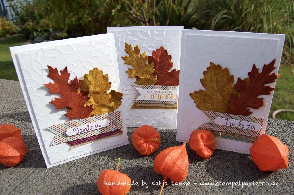 herbstliche karte mit stampin 39 up vintage leaves herbst laub. Black Bedroom Furniture Sets. Home Design Ideas