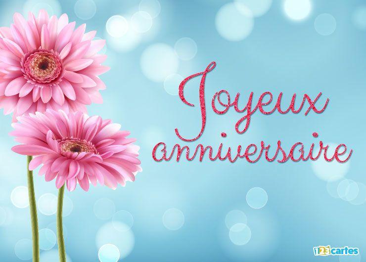 Flower Power Carte Joyeux Anniversaire Fleurs 123cartes Joyeux Anniversaire En Anglais Carte Joyeux Anniversaire Joyeux Anniversaire Fleurs