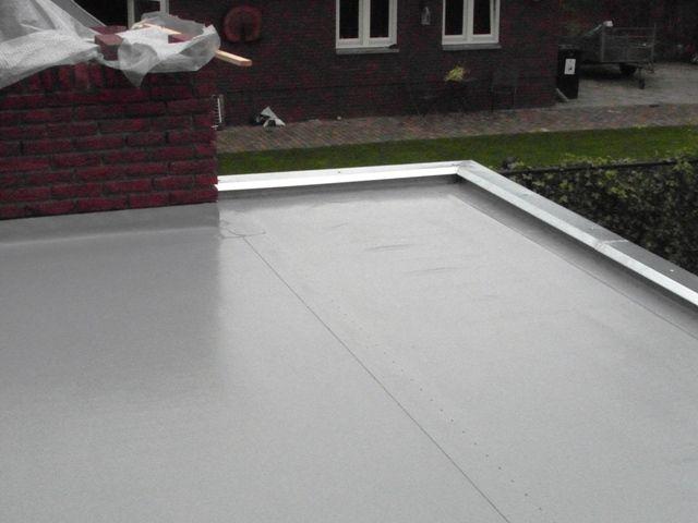 Mooie kunststof dakbedekking op de overkapping( foto 2)