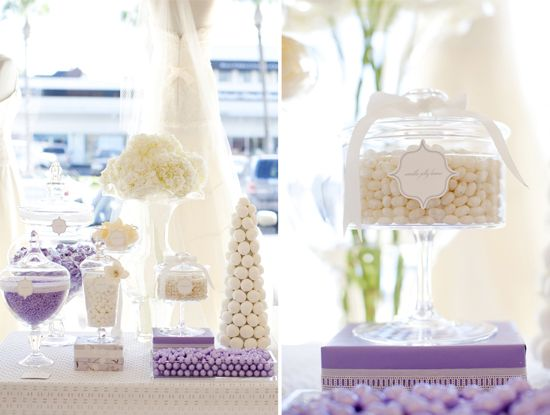lavender desserts | Sophisticated Lavender and White Dessert Table | Blowout Party, making ...