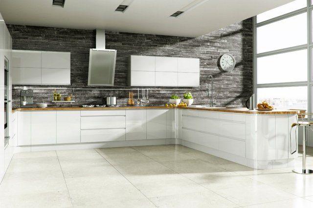 Cuisine blanche et grise - 30 designs modernes et élégants ...