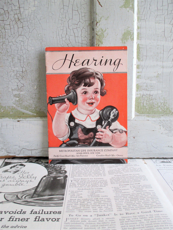 Vintage Booklet Hearing Metropolitan Life Insurance