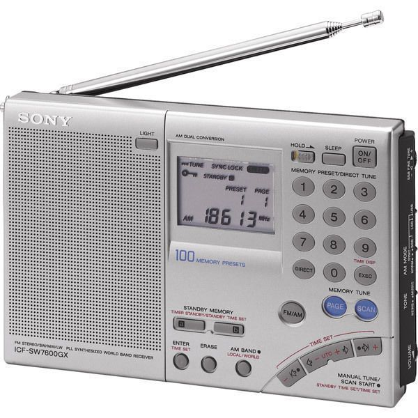 Sony FM Stereo SW MW LW Worldband Shortwave Radio 100 Memory