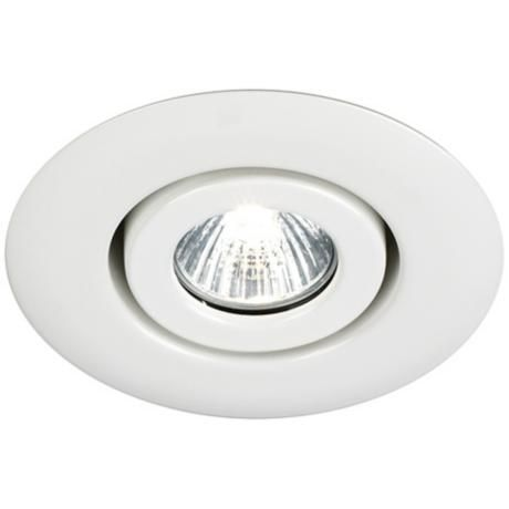 For The Artwork Lighting Halogen Bulbs Juno 4 Low Voltage White Gimbal Recessed Light Trim 19444 Lampsplus