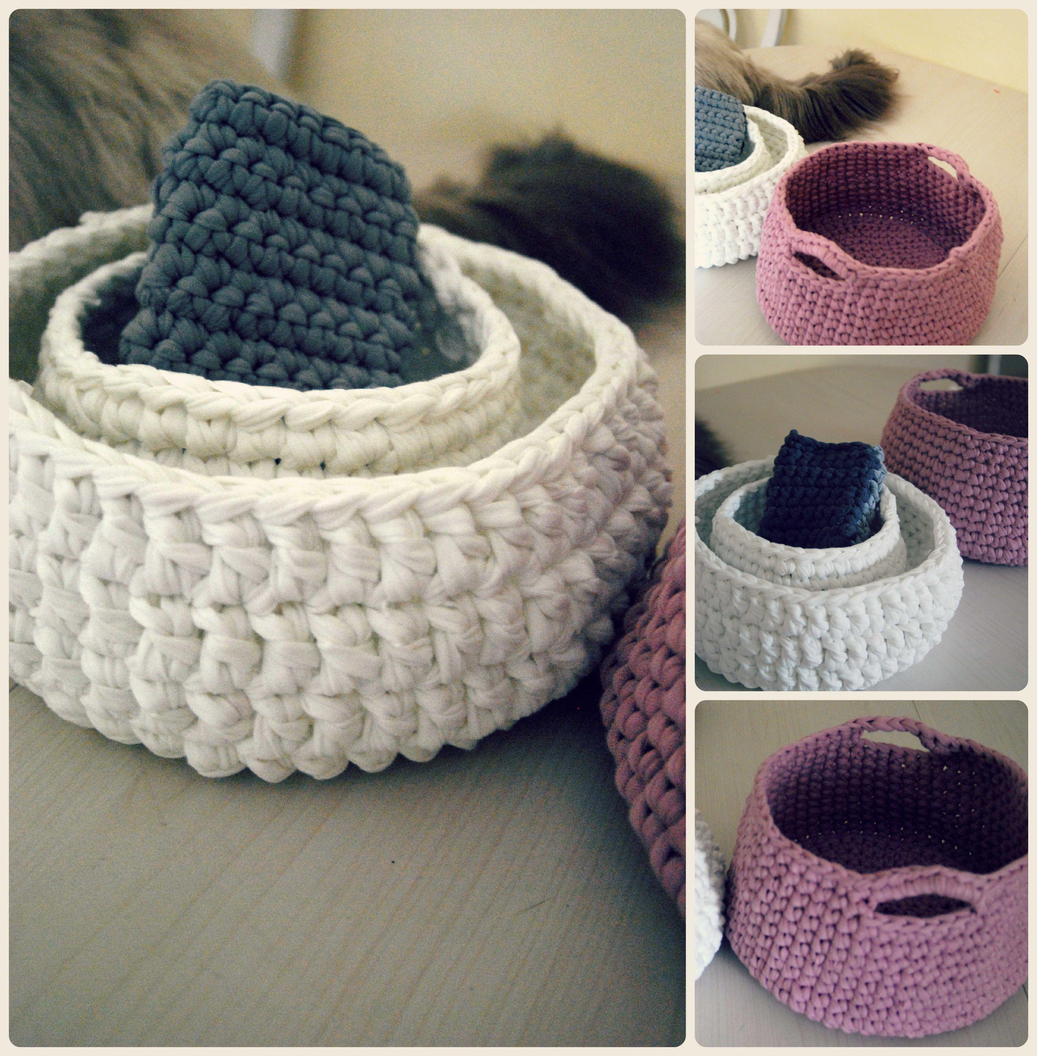 t-shirt yarn crochet baskets and iphone case: //www.etsy.com/il-en ...