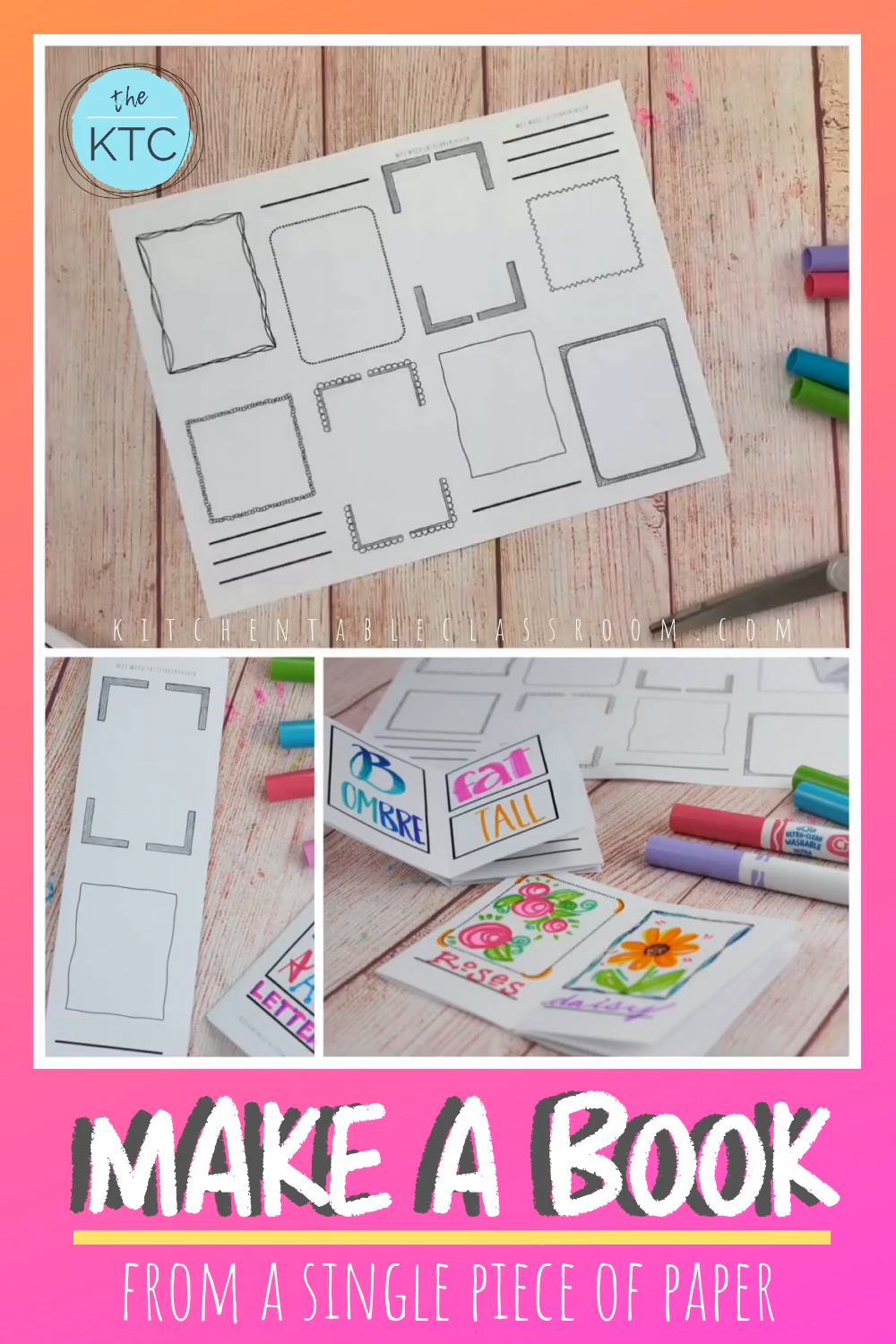 Learn How To Make A Book From A Single Piece Of Paper Choose From Two Free Templates Plus A Free Video Tutorial Bo In 2020 Book Making Book Crafts Paper Crafts Diy