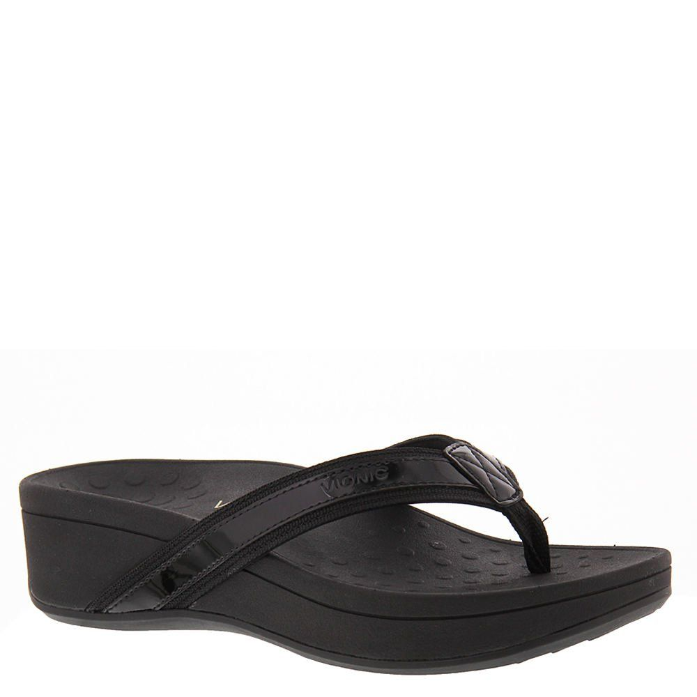 23a44c9e8bb Vionic Women s High Tide Arch Support Thong Wedge Sandal Black 8 M US  High  Tide takes the toe-post sandal to new heights. In five versatile colors