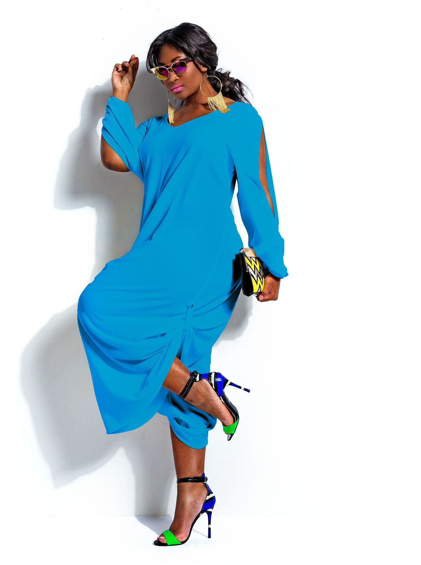 79ffed20042 European and American Style Rompers Womens Jumpsuits Sexy Slit Sleeves  Shirring Plus Size XXL Cotton Ladies Apparel
