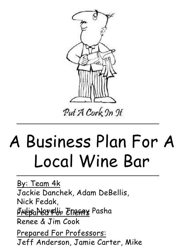 local-wine-bar-business-plan by Adamdebellis via Slideshare - bar business plan