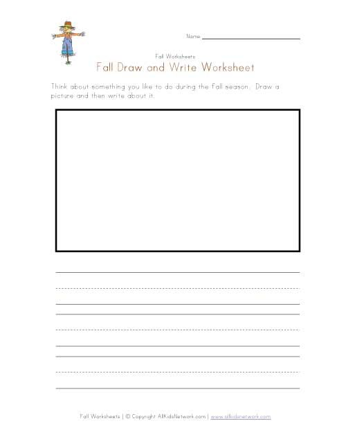 fall draw and write worksheet   1st Grade   Worksheets, 1st grade ...