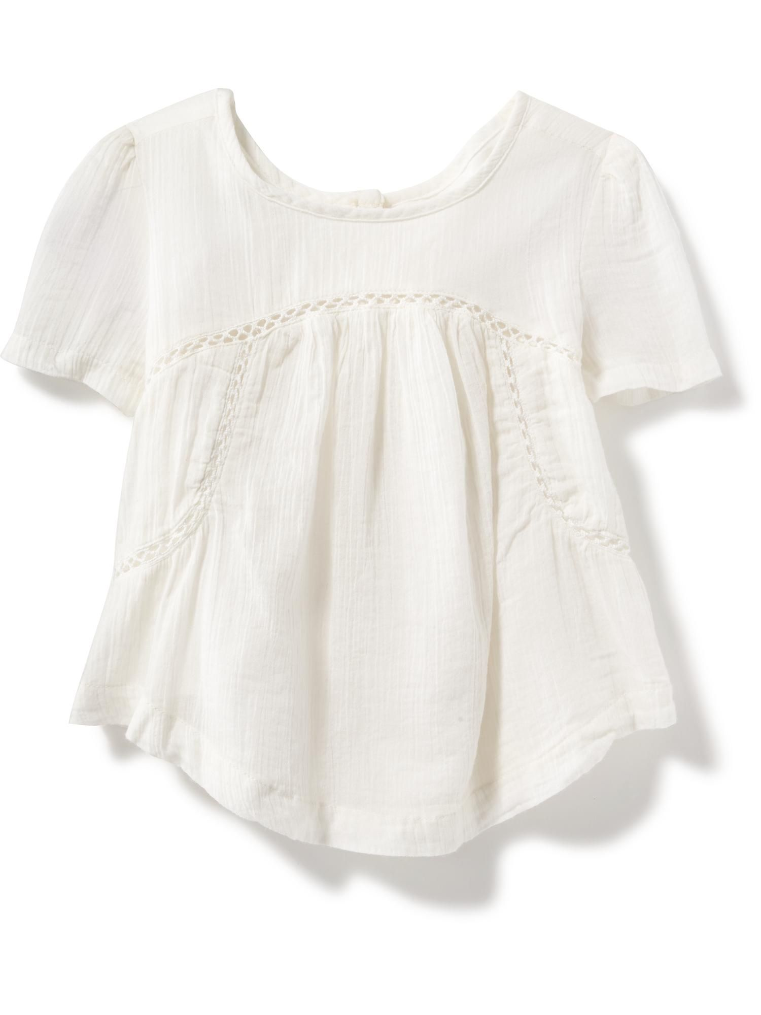 Crochet Lace Gauze Top for Toddler Old Navy