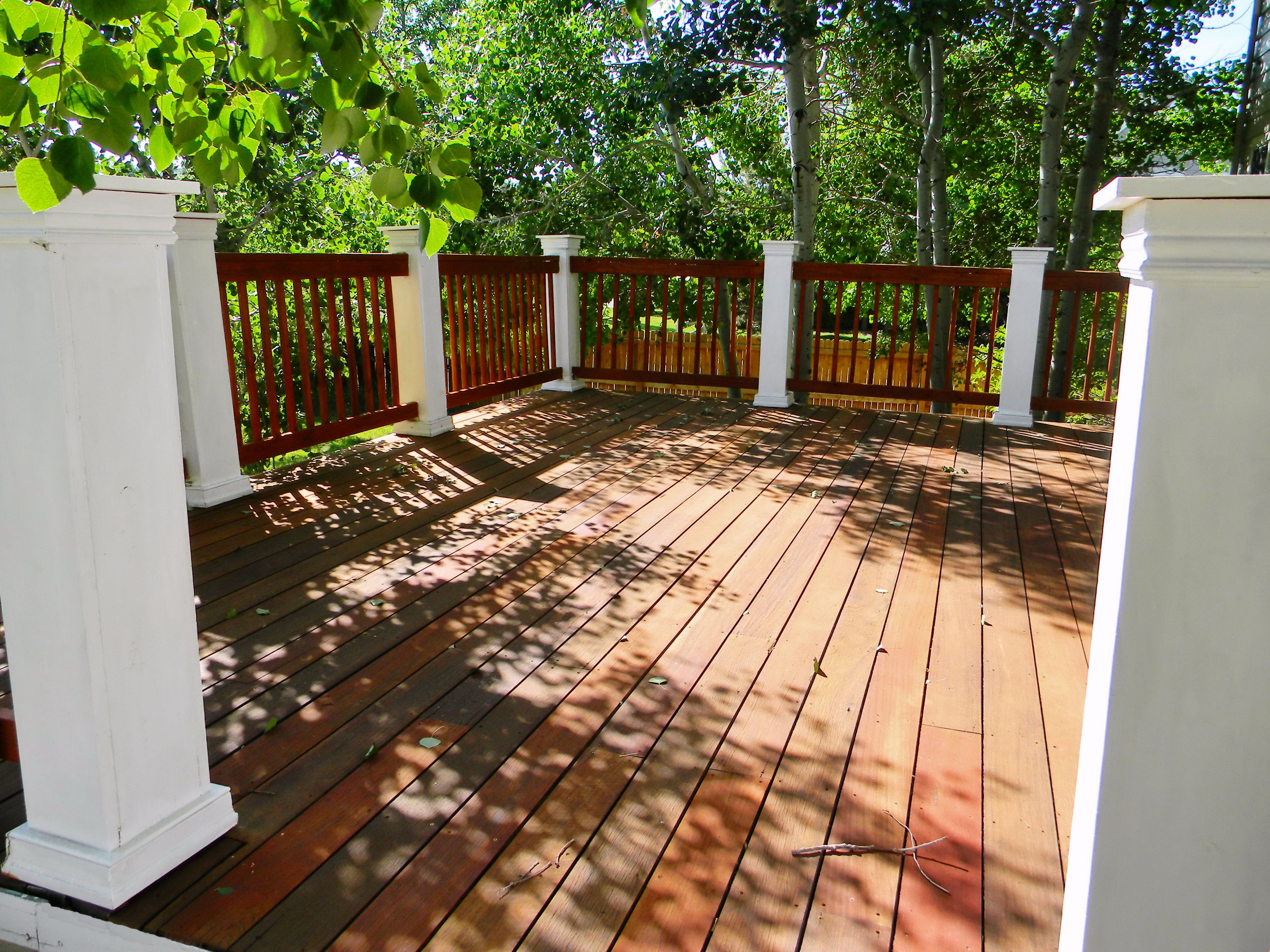 Best Teak Wood Deck Refinish And Railing Rebuild Stained With 400 x 300