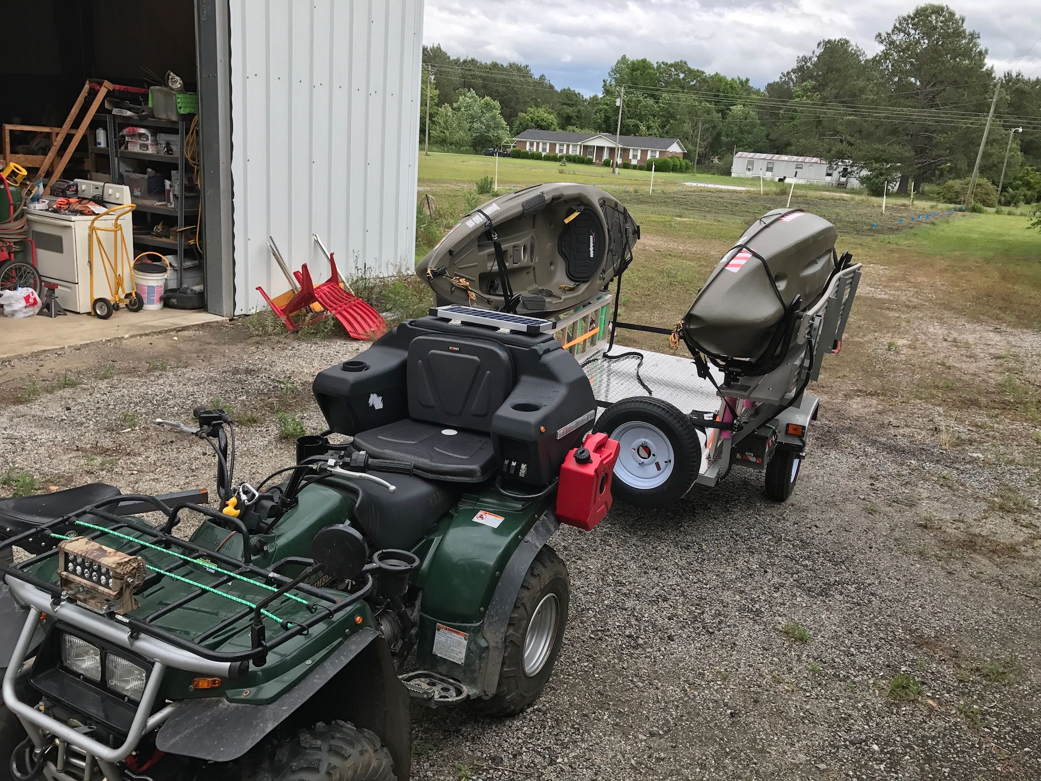 Atv Kayak And People Mover Trailer Home Built To Carry My Two