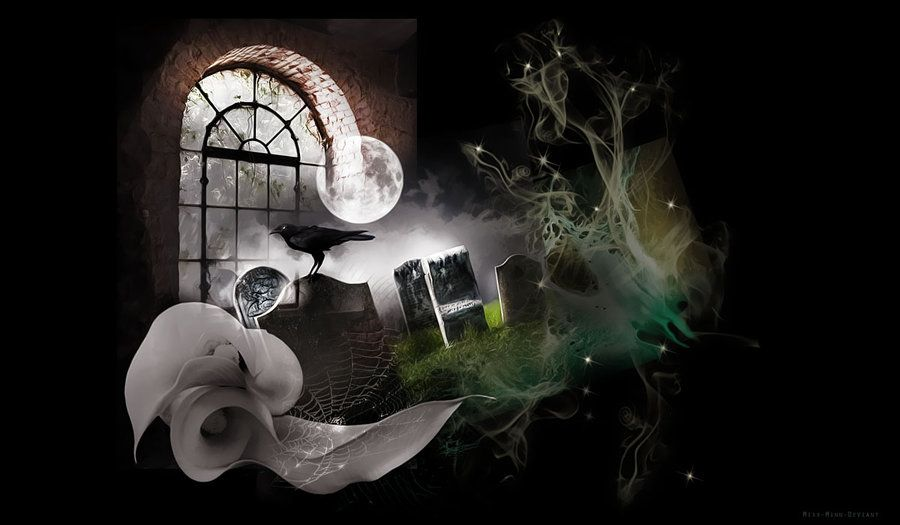 Graveyard Spooky Background by Miss-Minn-Deviant.deviantart.com on @deviantART