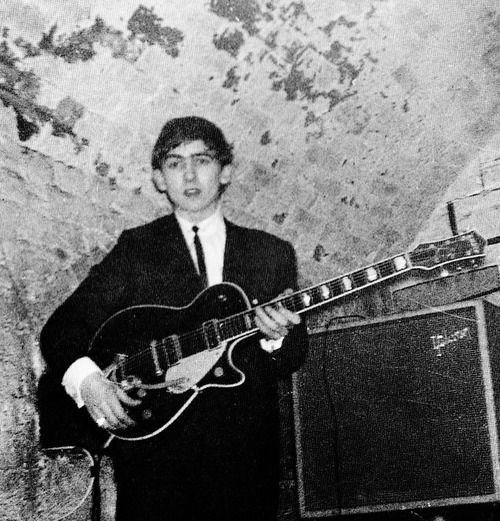 George at the Cavern Club on April 5, 1962