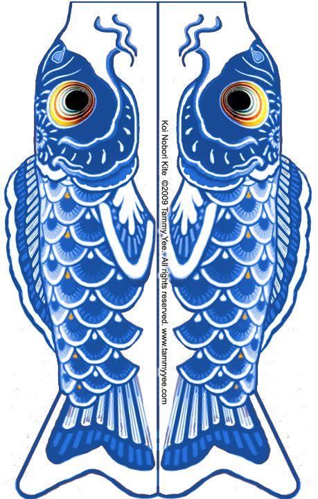 Koi Kite Blue Jpg 459 720 Japan Crafts Kite Template Craft