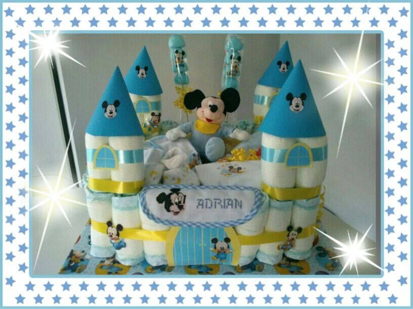 Tarta Panal Castillo Mickey Mouse Baby Shower Baby Mobile Baby Boy