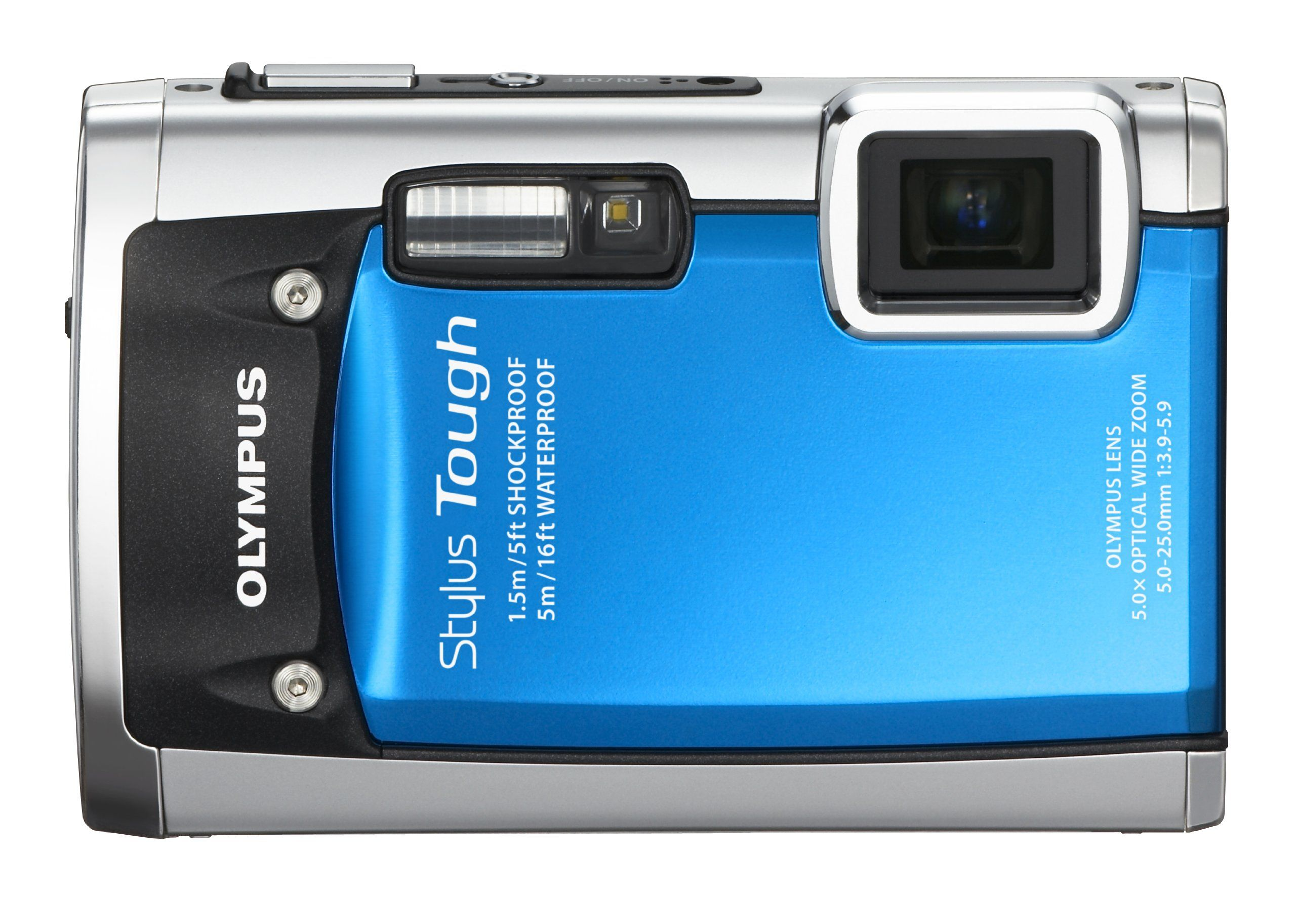 Olympus Stylus Tough 6020 14MP Digital Camera With 5x Wide Angle Zoom And 27 Inch LCD Blue Old Model A Revolutionary System Of Waterproof Seals