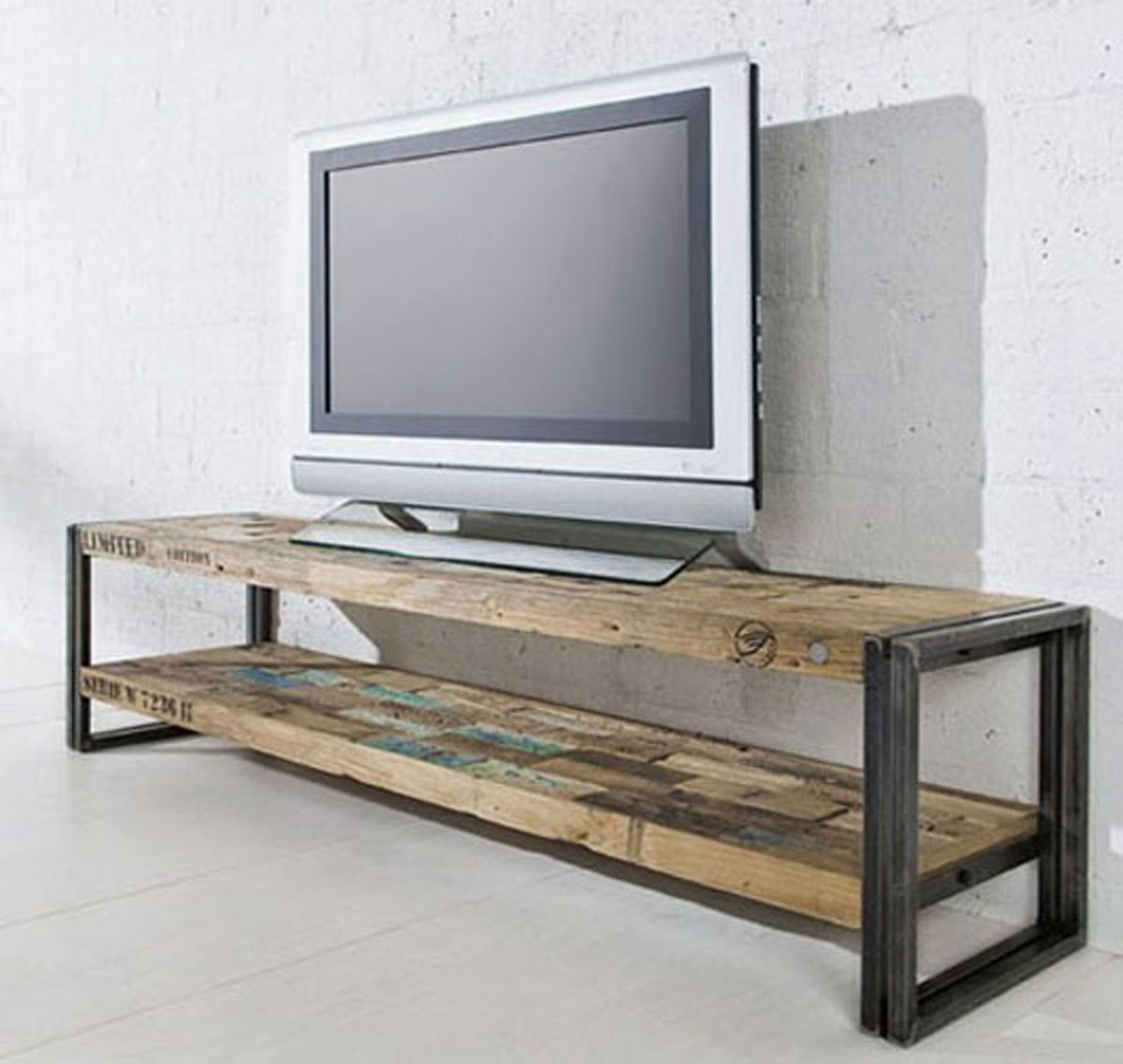 Recycle Wooden Furniture Table Design Pinterest Wooden  # Buffet Tele En Briques