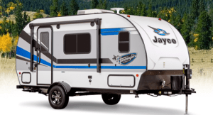 8 Best Small Camper Trailers With Bathrooms Rvblogger Small Camping Trailer Small Camper Trailers Small Campers