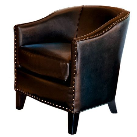 Bonded Leather Accent Chair With Studded Detailing. Product:  ChairConstruction Material: Bonded Leather And