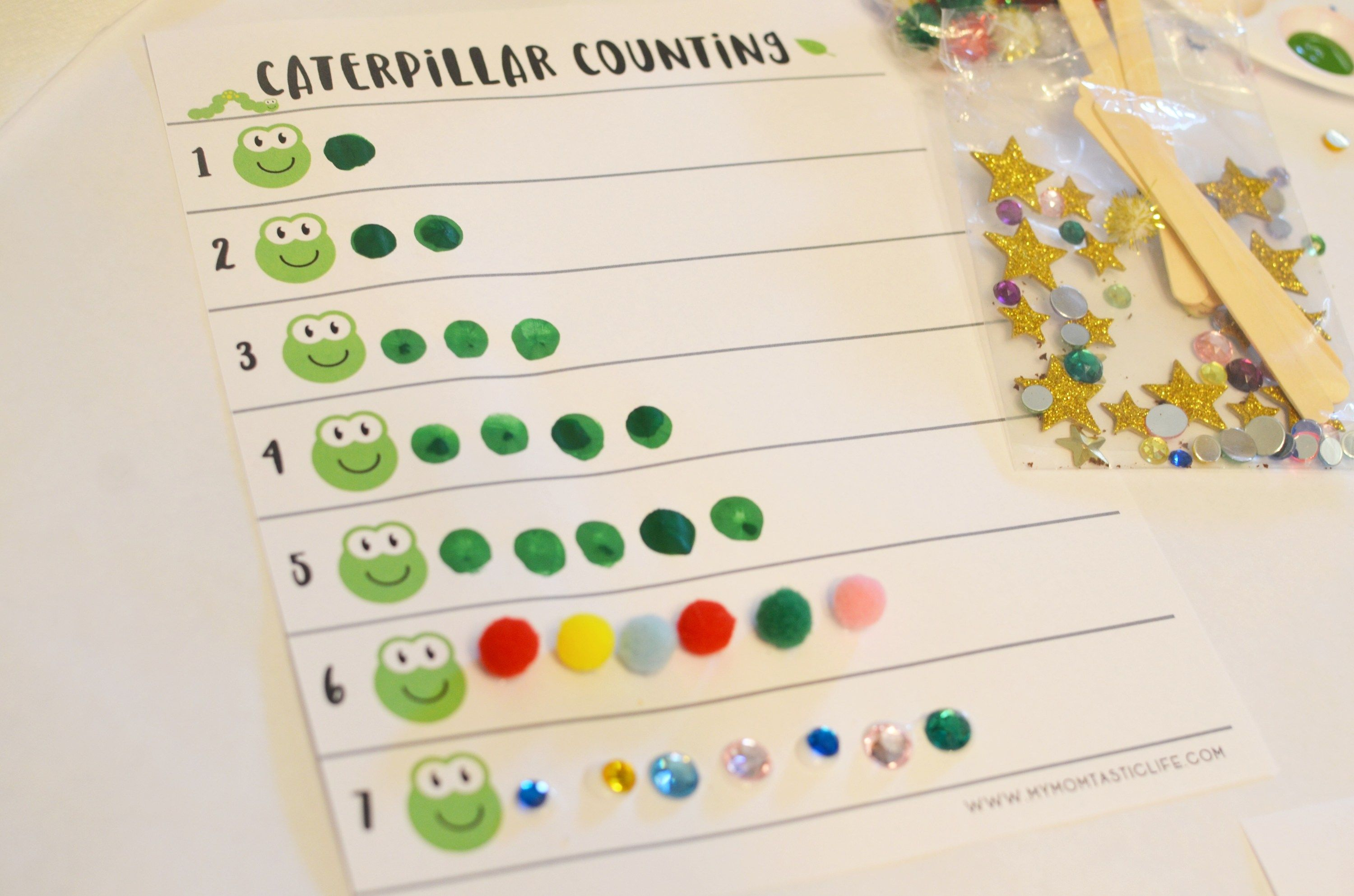 Caterpillar Counting Activity
