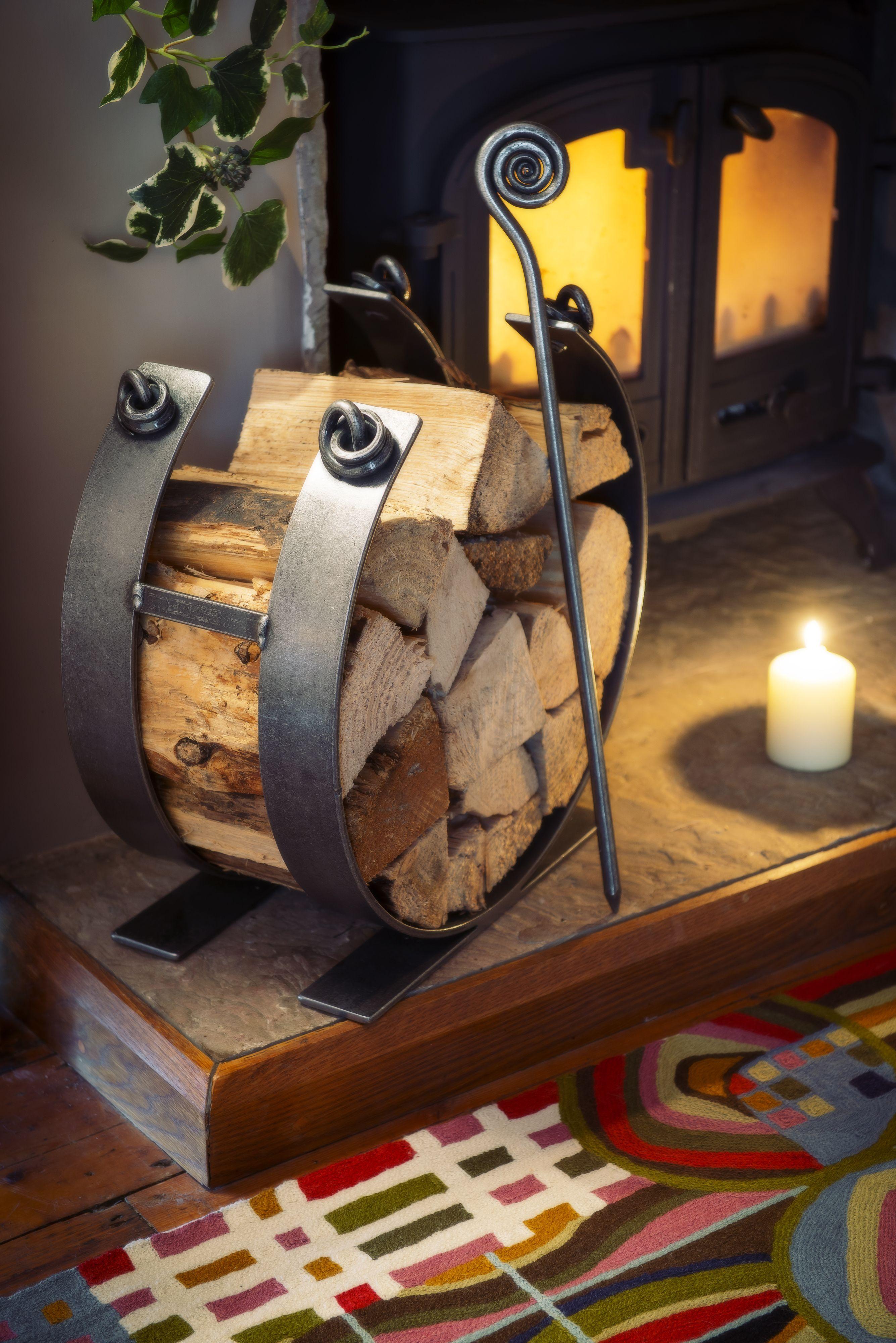 gorgeous wrought iron log ring from iapetus.co.uk | welding ...