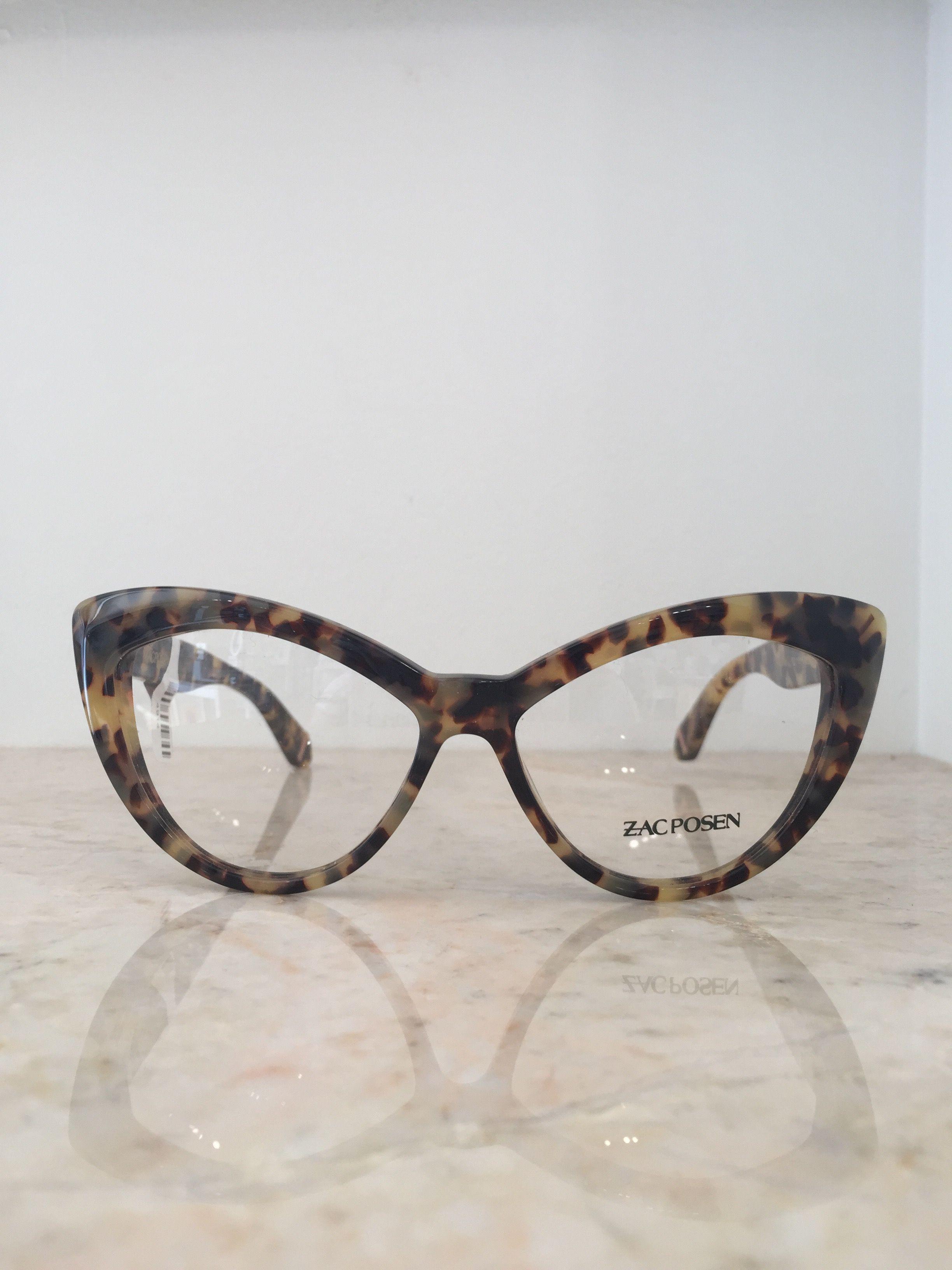 Eyeglasses dallas - Zac Posen Retro Glam Chunky Tortoise Cat Eye Glasses Frames