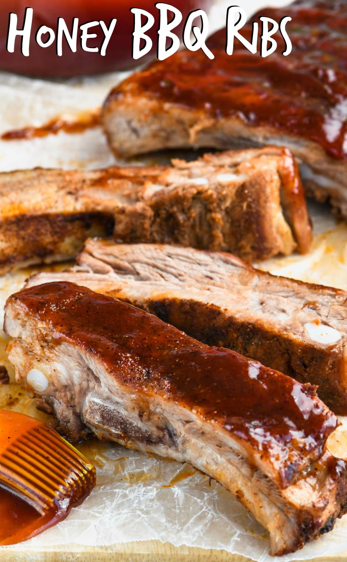 These Honey Bbq Ribs Are Fall Off The Bone Delicious And Even Better They Are Ribs In The Oven Easy To Make And Even Honey Bbq Bbq Recipes Ribs Rib Recipes