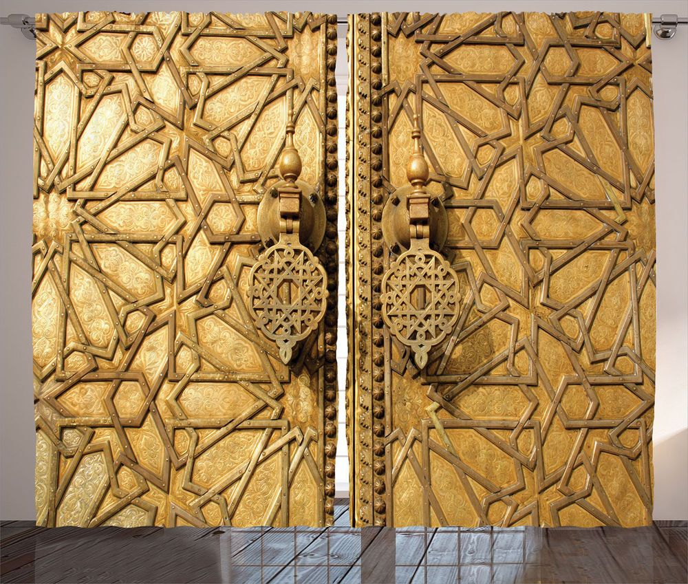 Gate of Palace Moroccan Decor Luxury Antique Door Image Curtain 2 ...