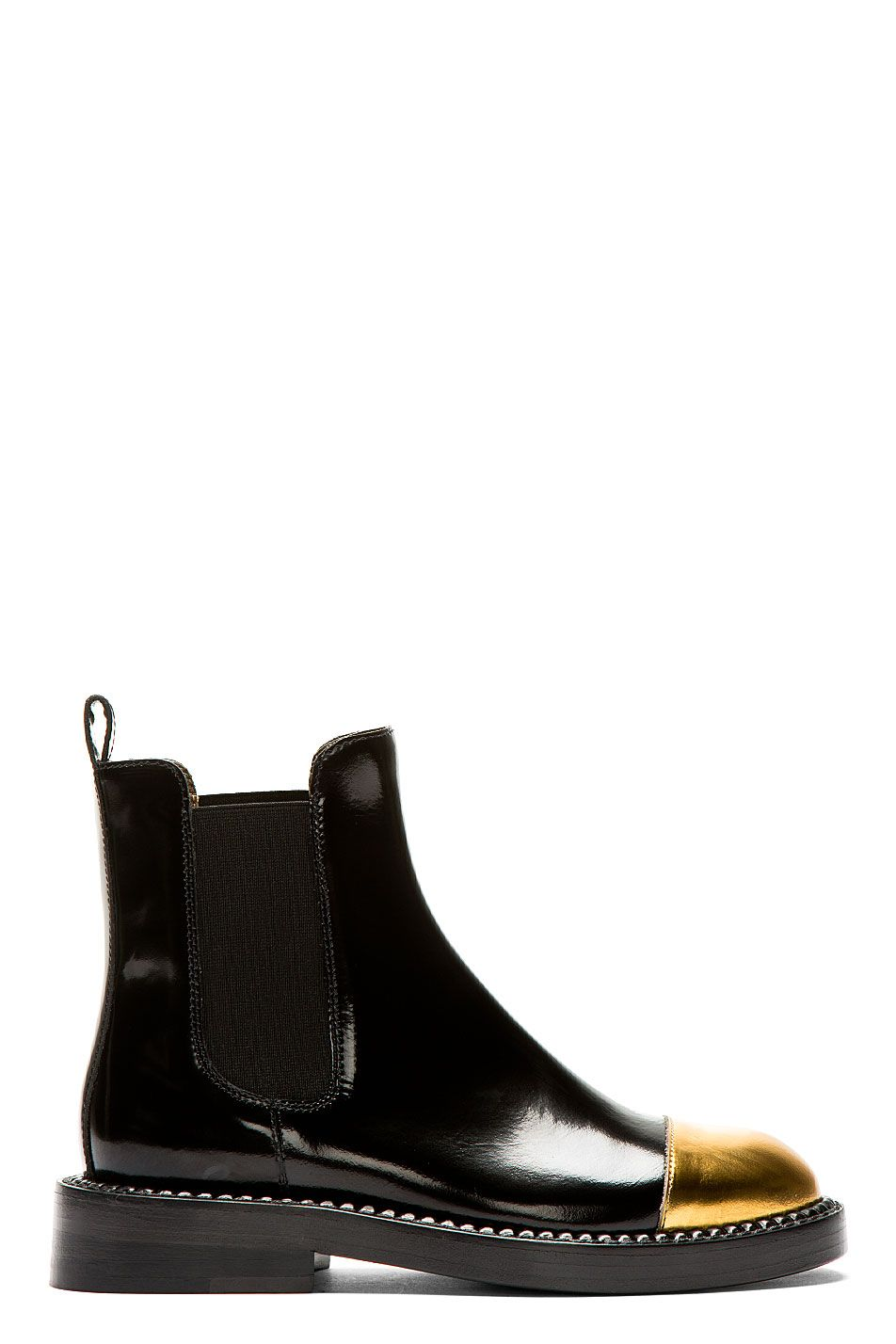 6b1d1756c5 Marni Black Leather Gold Toe Chelsea Boots on Vein - getVein.com ...