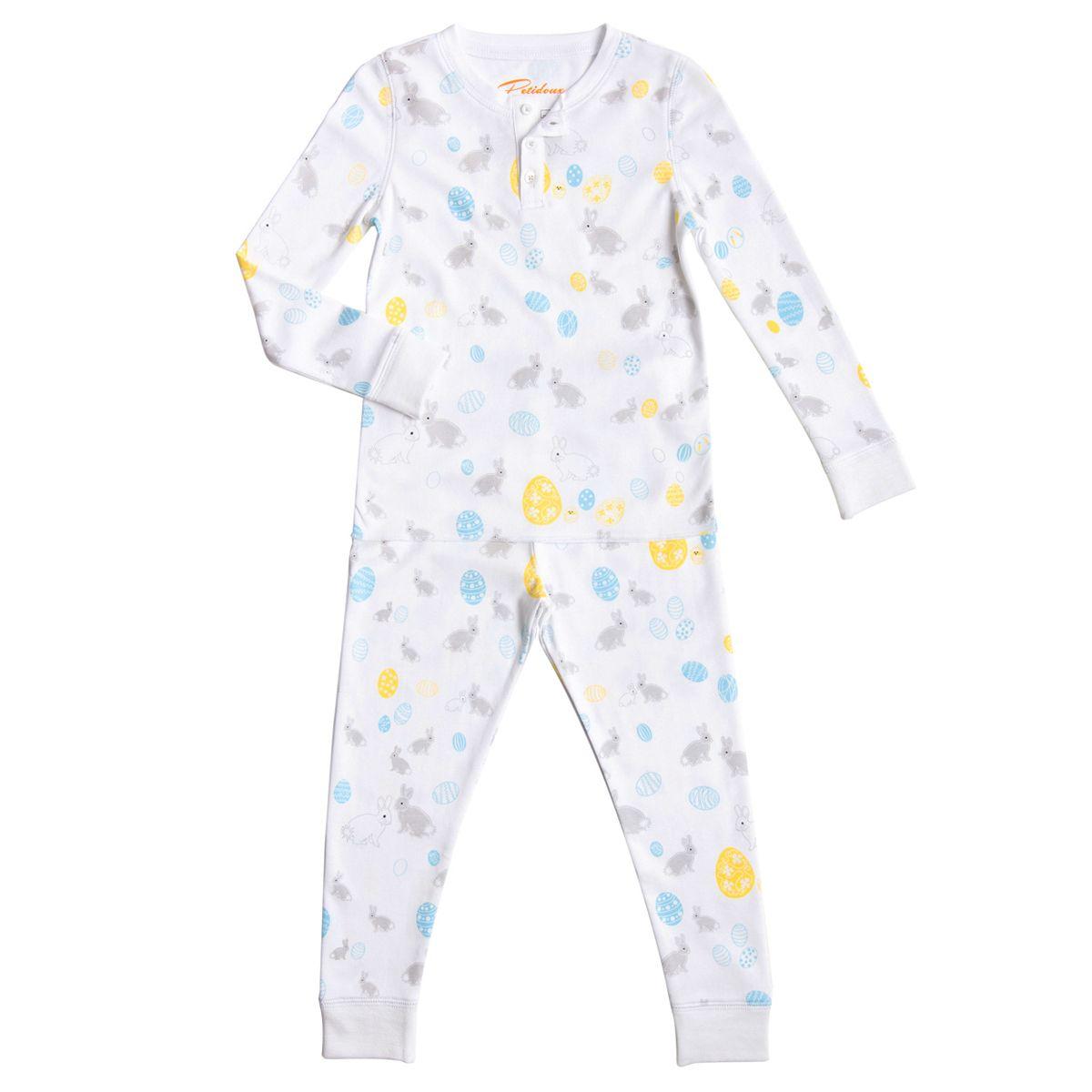 Petidoux Toddler/Big Kid Bunnies & Easter Eggs PJs