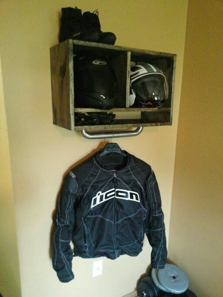 Motorcycle Gear Storage - Motorcycle Gear Garage Storage - This Is A Little Fancy With The
