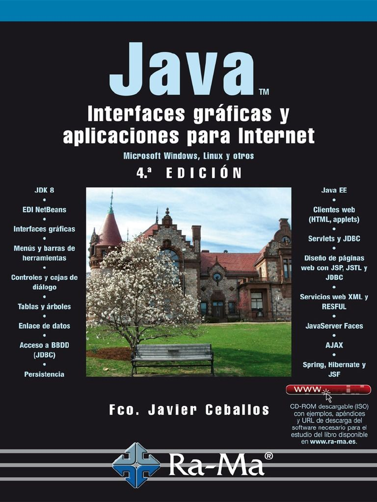 I'm reading Ceballos:  Java 2 - Interfaces Gráficas y Aplicaciones para Internet 4Ed on Scribd