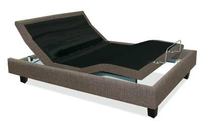 MANTUA The Rize Revolution adjustable bed features an adjustable lumbar back support.