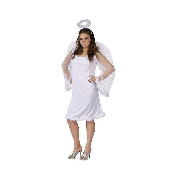Womenu0027s Angel Costume White - Size ($29) ? liked on Polyvore featuring costumes halloween white adult angel costume angel halloween costume ...  sc 1 st  Pinterest & Womenu0027s Angel Costume White - Size: ($29) ? liked on Polyvore ...